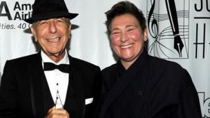 Leonard Cohen and kd lang