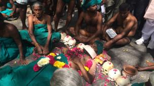 जंतर-मंतर पर तमिलनाडु के किसानों का विरोध-प्रदर्शन