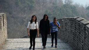 But there are some perks to being the daughters of the president - Sasha and Malia got to go on some really cool trips with their parents like this one to China.