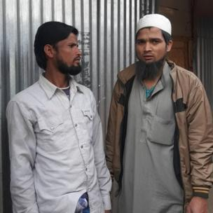 Amir Hussain (left) and another Rohingya