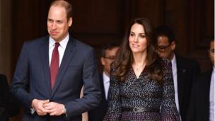 剑桥公爵夫妇在巴黎荣誉军人院