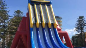 World's tallest inflatable slide