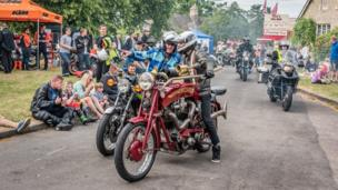 Hundreds of bikers meet up for an annual event in Cassington