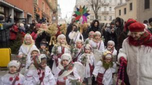 Святковий вертеп у Львові. 6 січня 2017