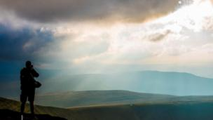 Sunset over Pen-y-Fan in the Brecon Beacons