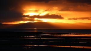 Sunset over Arran