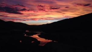 Sunset over Linn of Dee