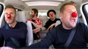Take That and James Corden