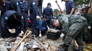 台灣軍隊協助救災
