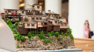 摩星嶺木屋區微縮模型