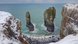 Stack Rocks on the Pembrokeshire Coast
