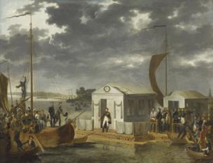 Paris diplomacy exhibition: Treaty of Tilsit by Adolphe Roehn
