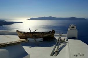 Boat in Thira, Santorini