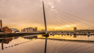 Swansea Marina's Sail Bridge