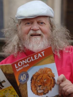 Lord Bath as Longleat Safari Park celebrated its 40th anniversary in 2006