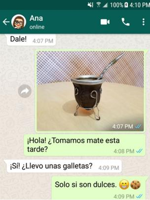 Conversación mate.