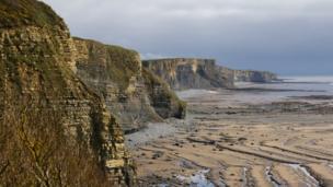 Jurassic cliffs at Southerndown