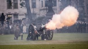 World War One canon being fired