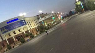 Samarqand shahri markazidagi ko'chalar to'sib qo'yildi.