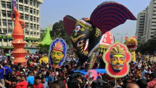 A parade for Bengali new year in Dhaka