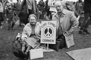 احتجاجات في عام 1981 لمناهضة استخدام السلاح النووي