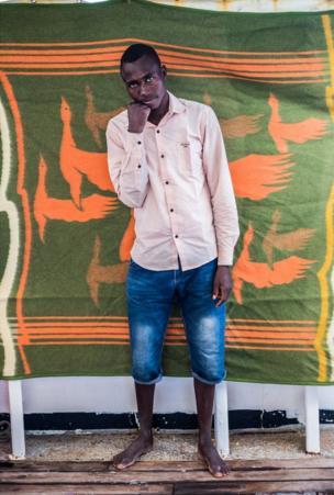 علي محمد، 23 عاما، قضى شهرا في ليبيا وكان يريد الذهاب إلى ألمانيا.