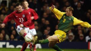 becomes the youngest player to play for England in February 2003 at 17 years and 111 days in a friendly defeat against Australia.