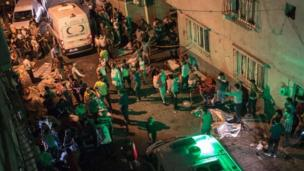 Scene of the blast late on Saturday evening in Gaziantep (20/08/2016)