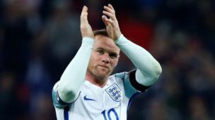 """After 119 England appearances and 53 goals, Rooney retires from international football. He said playing for his national team """" was a real privilege but I believe now is the time to bow out."""""""