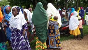 Old women at the prayer ground
