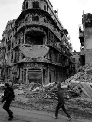 حطام منازل شرق حلب