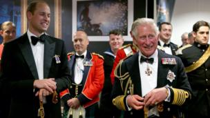 The Prince William and his father Prince Charles