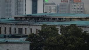 Damage to Turkey's parliament building in Ankara