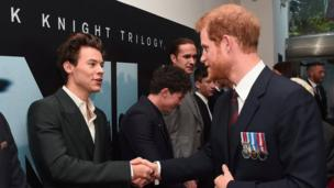 Prince Harry meets singer Harry Styles