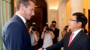 Bộ trưởng Ngoại giao Đan Mạch Kristian Jensen thăm chính thức Việt Nam từ ngày 11 đến 12/10/2016.