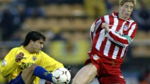 Fernando Torres playing for Atletico Madrid
