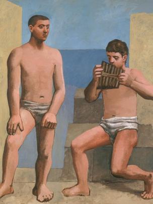"Obra: ""La flauta de Pan"", óleo sobre lienzo, Pablo Picasso, 1923"
