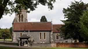 """St Mark""""s Church ahead of the wedding of Pippa Middleton and James Matthews in Englefield, Berkshire"""