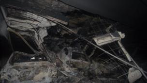 بالصور: حريق مرآب سيارات في ليفربول في ليلة رأس السنة