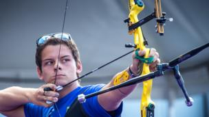 Marcus Vinicius D'Almeida, is home nation Brazil's star. He's been nicknamed the Neymar of Archery and at only 18 he's already been to one Archery World Cup final.