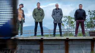 Ewen Bremner, Ewan McGregor, Jonny Lee Miller and Robert Carlyle in T2: Trainspotting