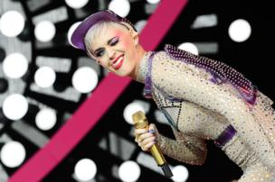Katy Perry performs on the Pyramid Stage at Glastonbury
