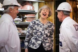 Prime Minister Theresa May visits Smithfield Market in the City of London
