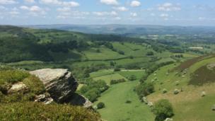 View near Builth Wells