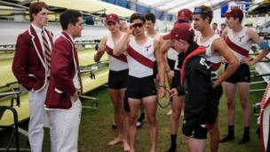 Rowing crew gather for talk