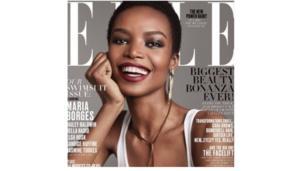 La top model angolais Maria Borges est devenue la première africaine à poser en une du magazine Elle Usa au cours du 21ème siècle.