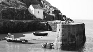 The quaint beauty of Porthgain harbour in Pembrokeshire is captured by Tony Dando