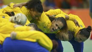 Бразильская команда по гандболу на Олимпиаде-2016 в Рио