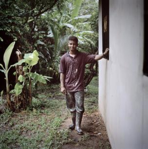 A portrait of Ron, 21, one of the apprentices in Bilwi, Nicaragua