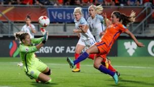Danielle van de Donk scores their second goal